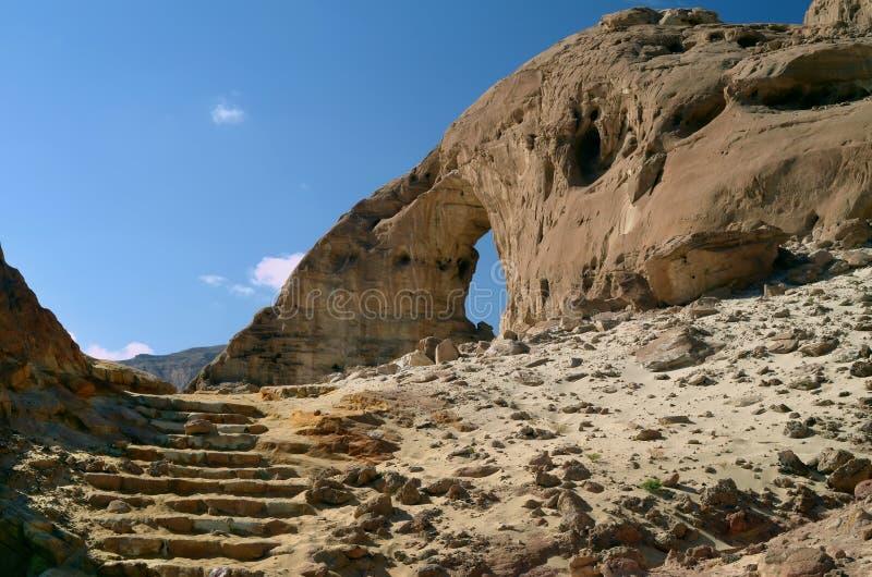 Archi antichi in sosta Timna, Israele fotografie stock
