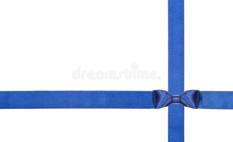 Archi blu e nastri del raso isolati - insieme 11 fotografia stock libera da diritti