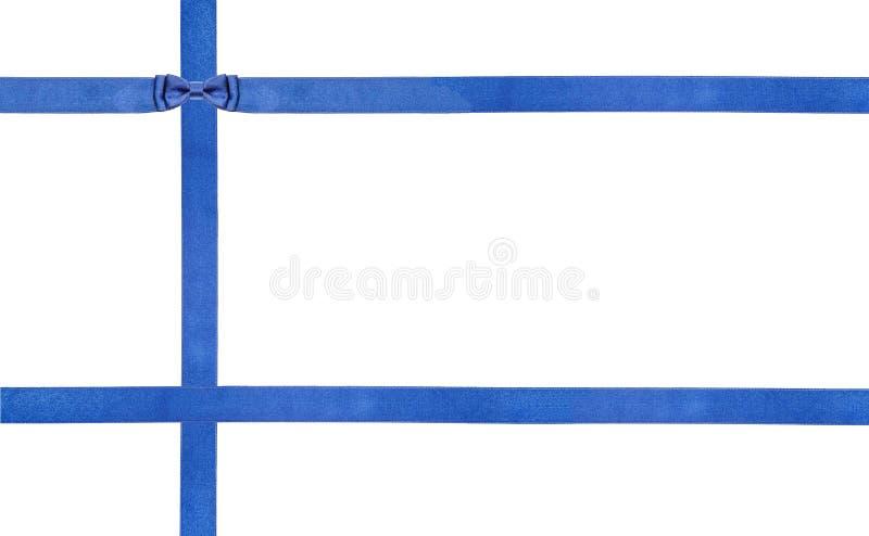 Archi blu e nastri del raso isolati - insieme 23 fotografia stock
