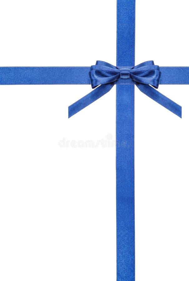 Archi blu e nastri del raso isolati - insieme 5 fotografia stock
