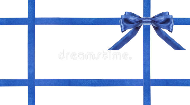 Archi blu e nastri del raso isolati - insieme 26 fotografie stock libere da diritti