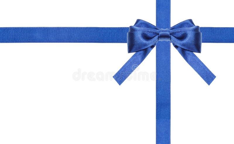 Archi blu e nastri del raso isolati - insieme 14 fotografia stock