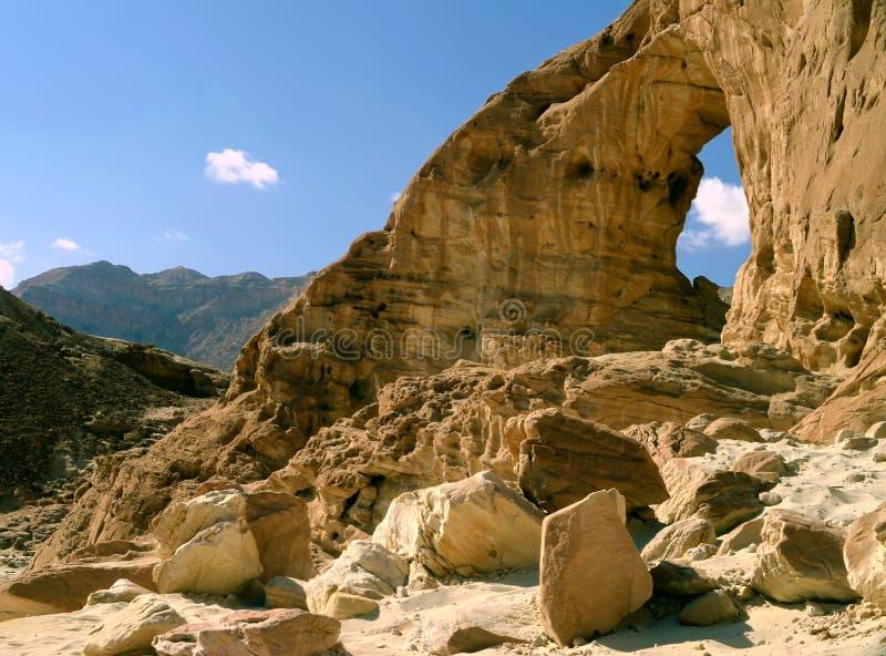 Archi della sosta geologica Timna, Israele immagine stock libera da diritti