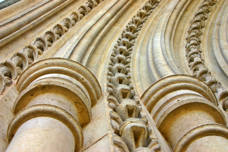 Archi di pietra curvi immagine stock libera da diritti