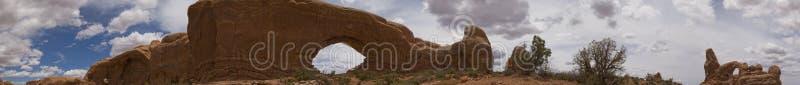 Archi e panorama di Canyonlands NP, Moab, Utah immagini stock