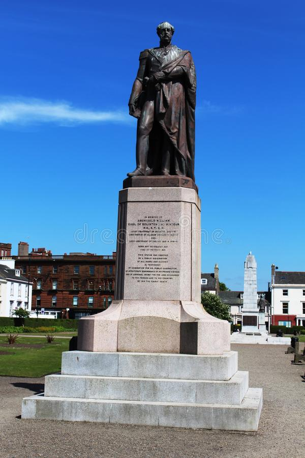Archibald William Earl de Eglinton e de Wintoun Ayr imagens de stock