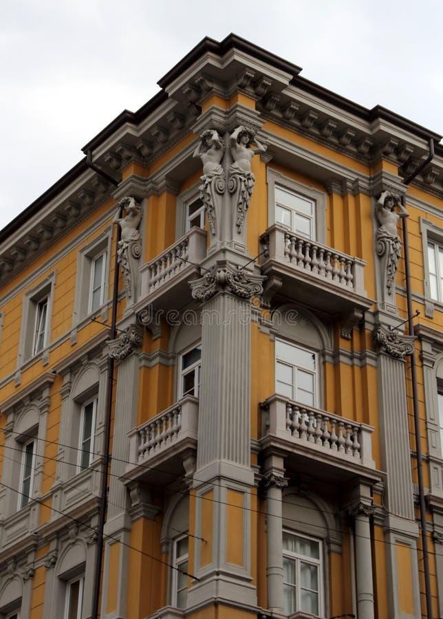 Archicture de Trieste, Itália fotos de stock