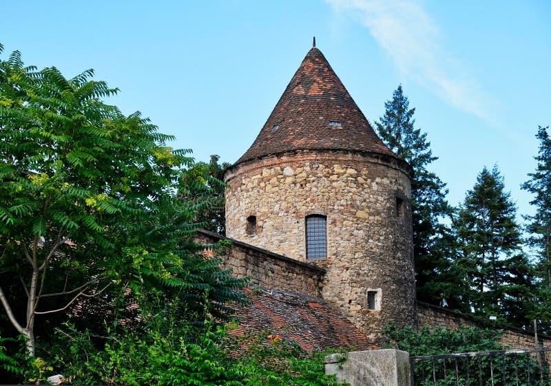 Archidiocèse historique du bâtiment de Zagreb, Croatie photographie stock