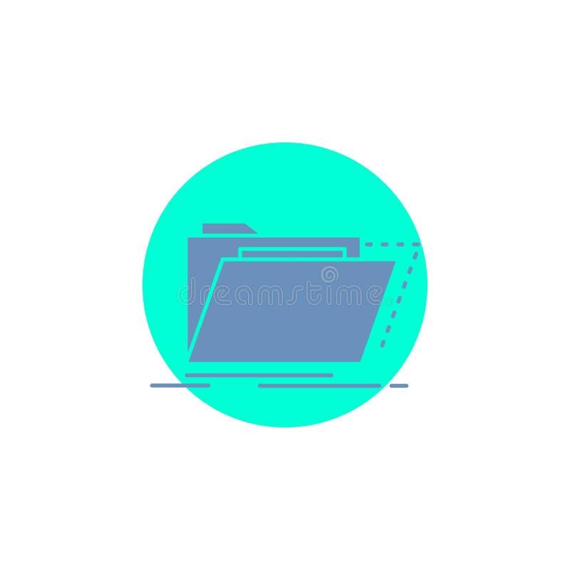 Archief, catalogus, folder, dossiers, het Pictogram van omslagglyph stock illustratie