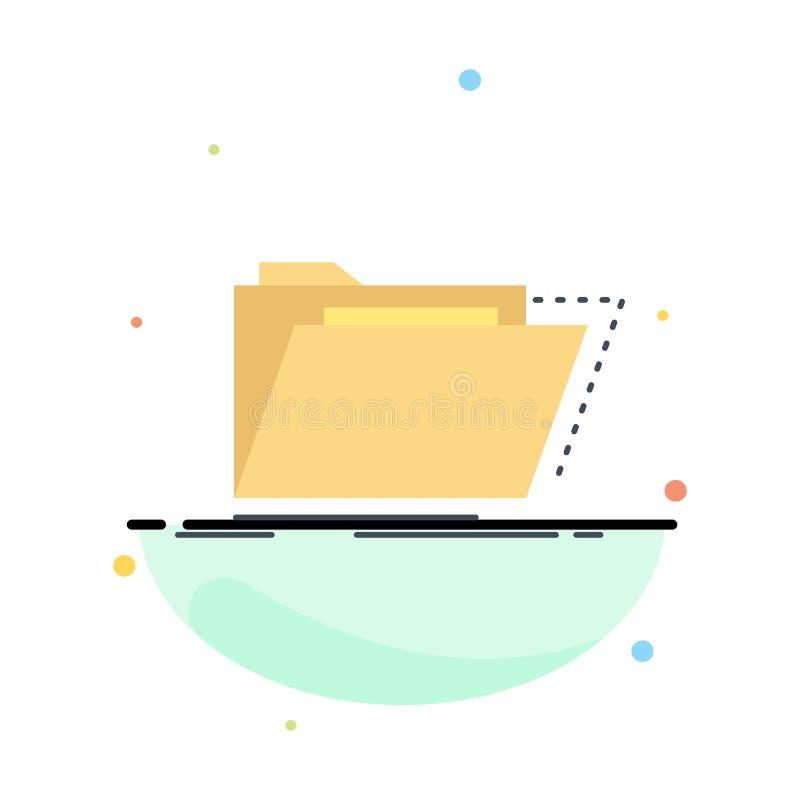 Archief, catalogus, folder, dossiers, het Pictogramvector van de omslag Vlakke Kleur vector illustratie
