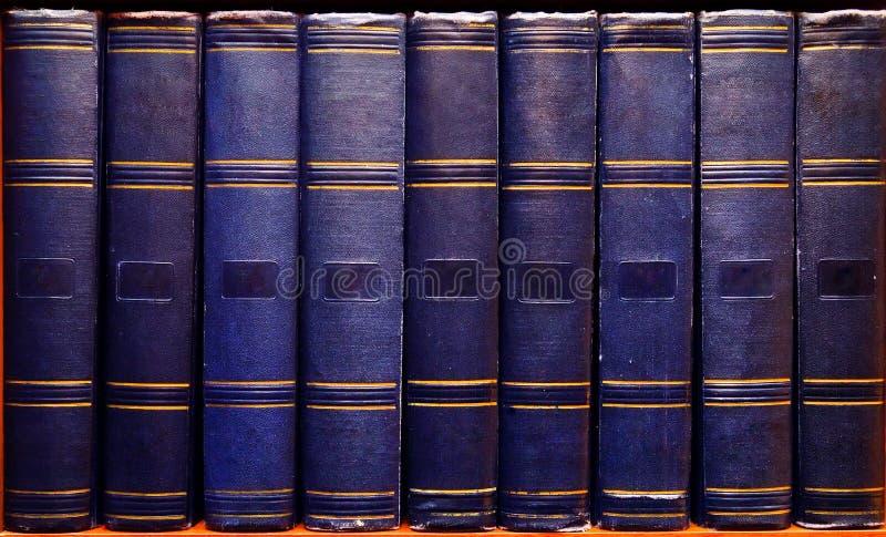 Archief Oude uitstekende boeken royalty-vrije stock fotografie