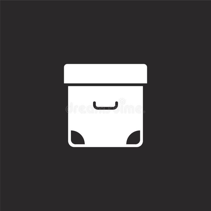 Archiefpictogram Gevuld archiefpictogram voor websiteontwerp en mobiel, app ontwikkeling archiefpictogram van gevulde essentiële  vector illustratie
