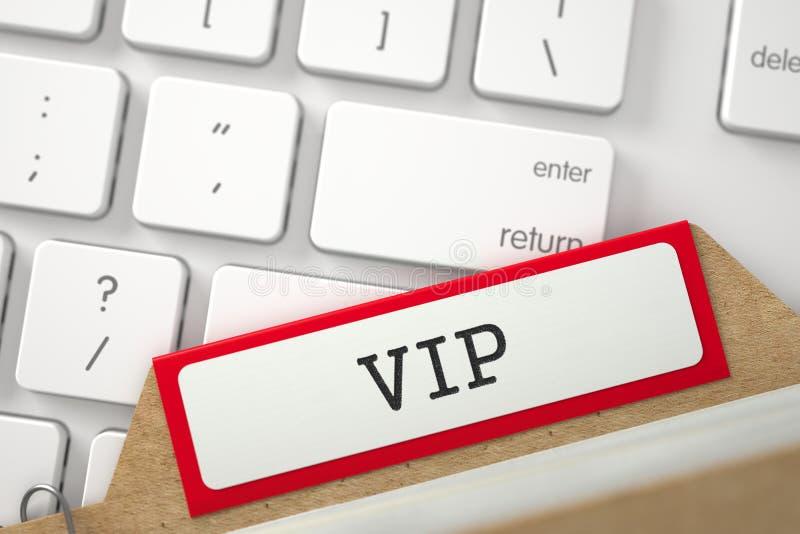 Archiefreferenties van Kaartsysteem met VIP 3d stock afbeelding
