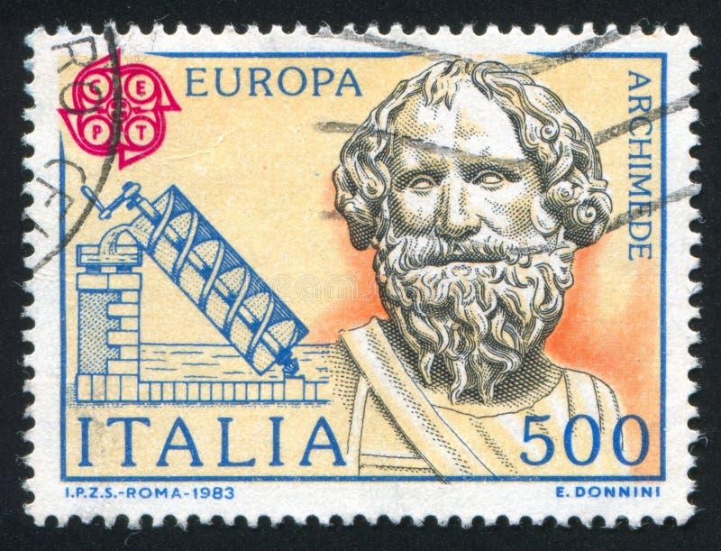 Archimedes och hans skruv fotografering för bildbyråer