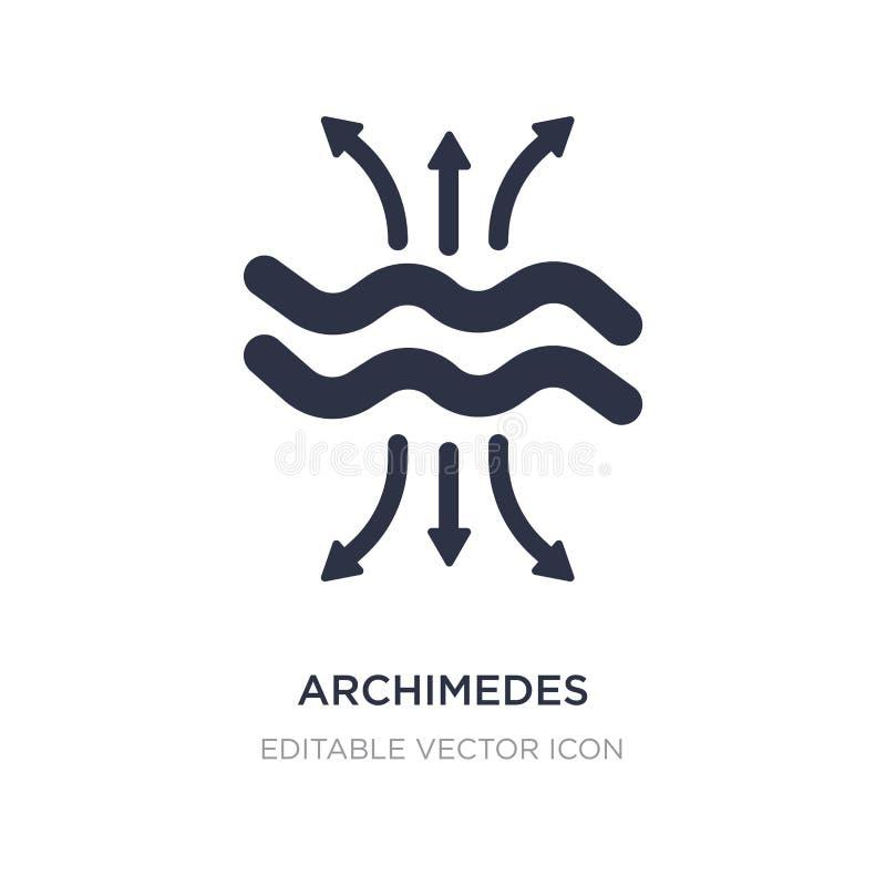 Archimedes-Prinzipikone auf weißem Hintergrund Einfache Elementillustration vom Ausbildungskonzept lizenzfreie abbildung