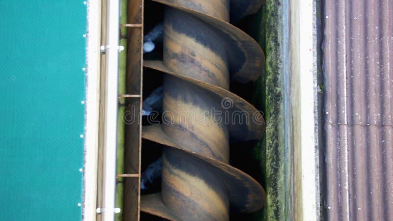 archimedes skruv arkivfoto