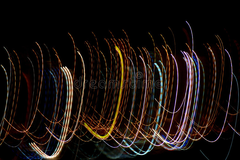 arching lights royalty free stock photography