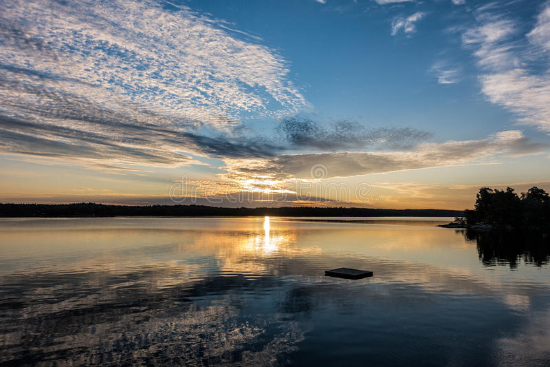 Archipelag na morza bałtyckiego wybrzeżu obraz royalty free
