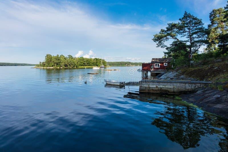 Archipelag na morza bałtyckiego wybrzeżu obrazy stock