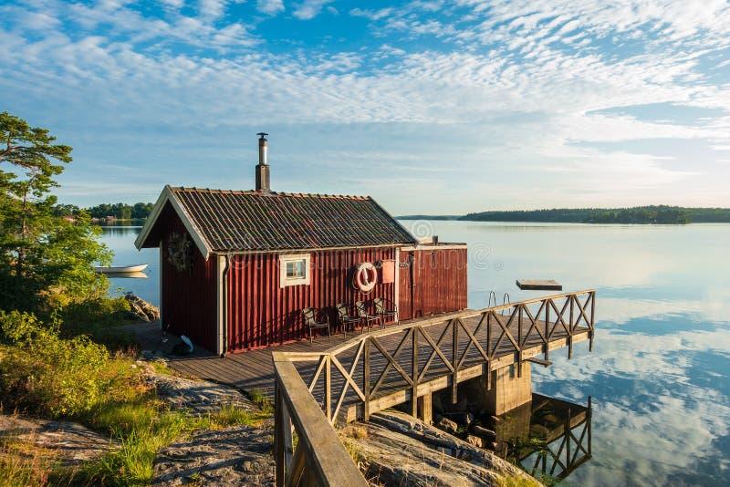 Archipelag na morza bałtyckiego wybrzeżu w Szwecja zdjęcia royalty free