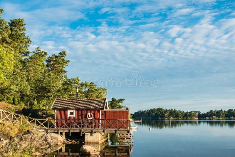 Archipelag na morza bałtyckiego wybrzeżu w Szwecja zdjęcie royalty free
