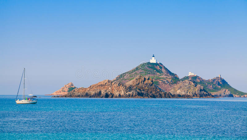 Archipelago near Ajaccio, Corsica island, France royalty free stock photos