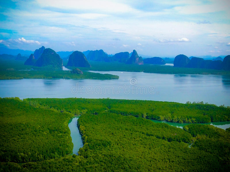 Archipelagu mangrowe Thailand zdjęcie royalty free