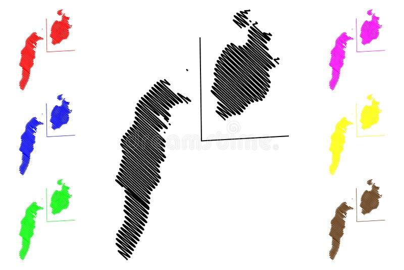 Archipi?lago vector del mapa de San Andres, de Providencia y de Santa Catalina libre illustration