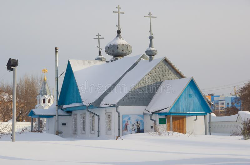 Archistrategos米哈伊尔教会在新西伯利亚 俄国 库存照片