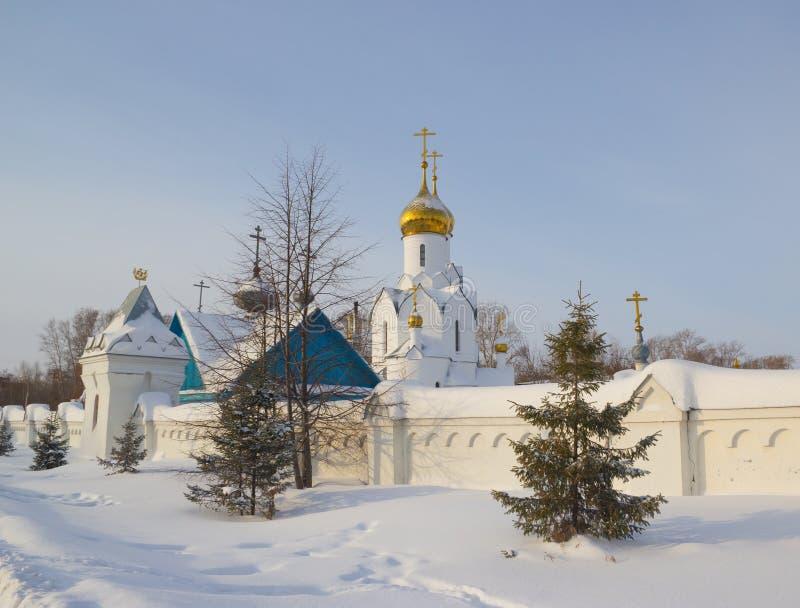 Archistrategos米哈伊尔教会在新西伯利亚 俄国 库存图片