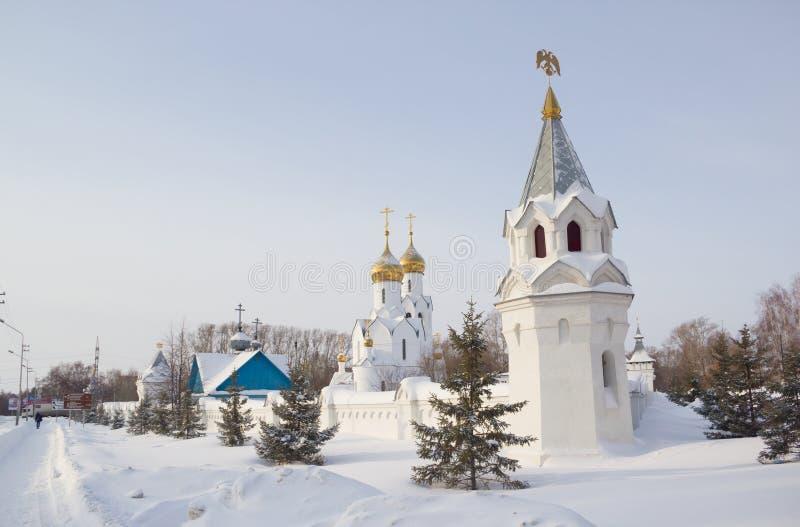 Archistrategos米哈伊尔教会在新西伯利亚 俄国 免版税图库摄影