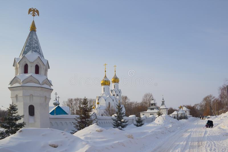 Archistrategos米哈伊尔教会在新西伯利亚 俄国 免版税库存照片