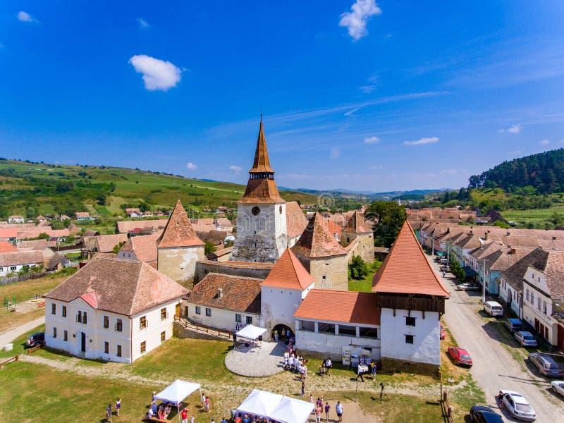 Archita a enrichi l'église dans le village la Transylvanie R d'Archita Saxon image libre de droits
