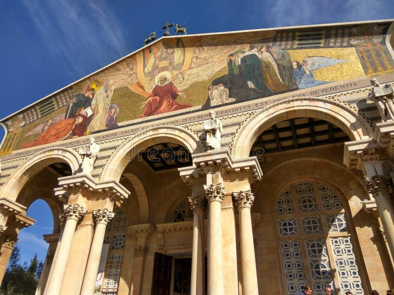 Architacture saint de baruque de Jérusalem de couleur image stock