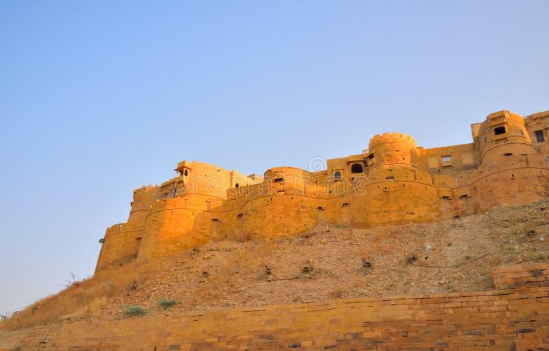 Architechture van gouden Jaisalmer-fort stock fotografie