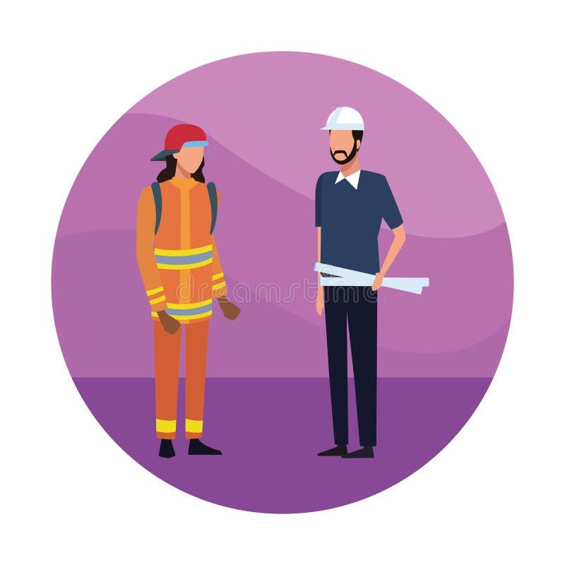 Architecs et travailleurs illustration libre de droits