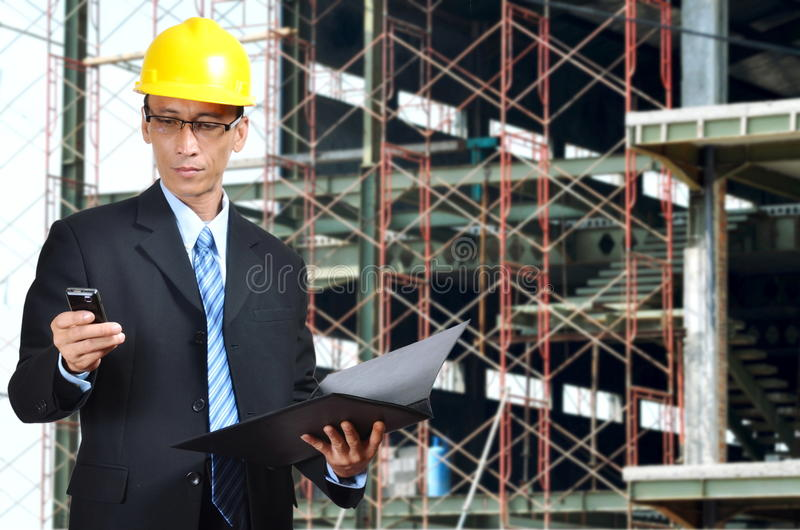 Download The Architect stock photo. Image of businessman, blue - 20562920