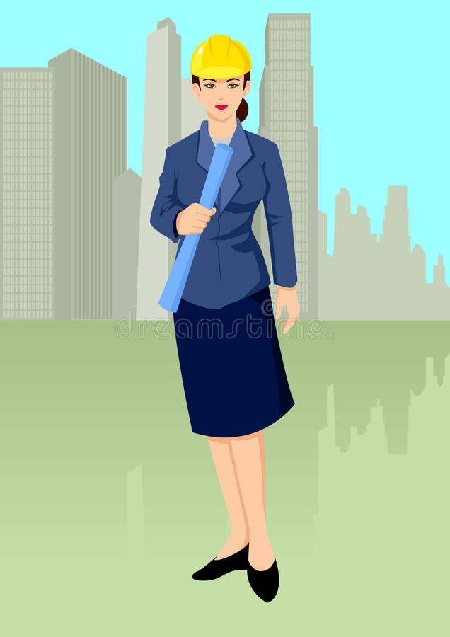 Download An Architect stock vector. Image of illustration, graphic - 20839168