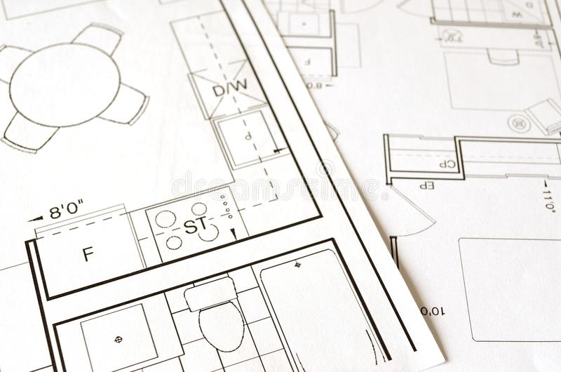 Architect, Architecture, Blueprint royalty free stock photo