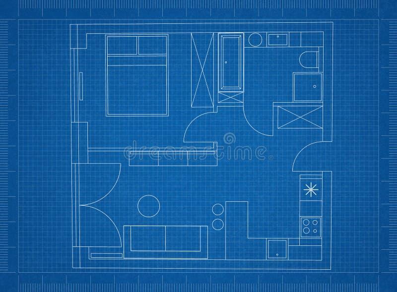 Architect Blueprint royalty free stock photos