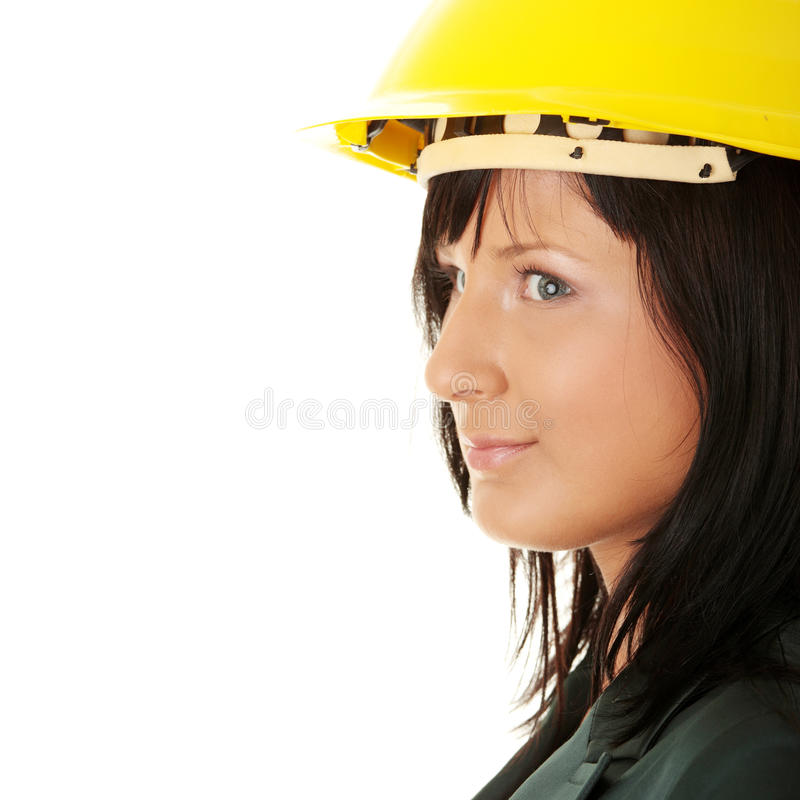 Architect Or Builder Wearing A Yellow Hart Hat Stock Photos