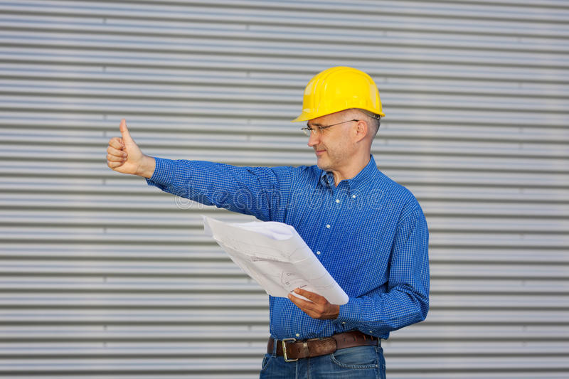 Architect checked the site royalty free stock image