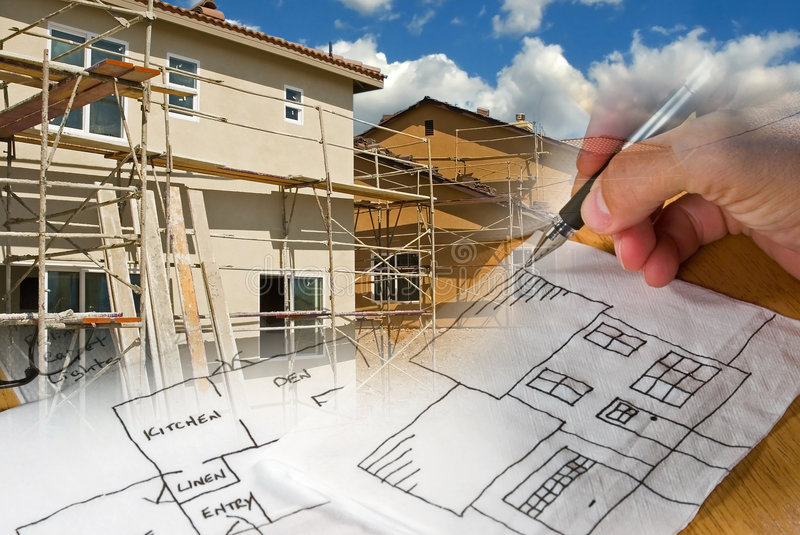 Download Architect Construction Montage Stock Image - Image: 2932281