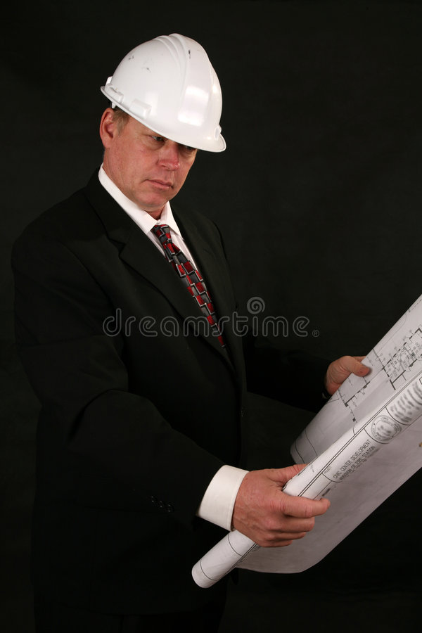 Architect of contractant stock foto