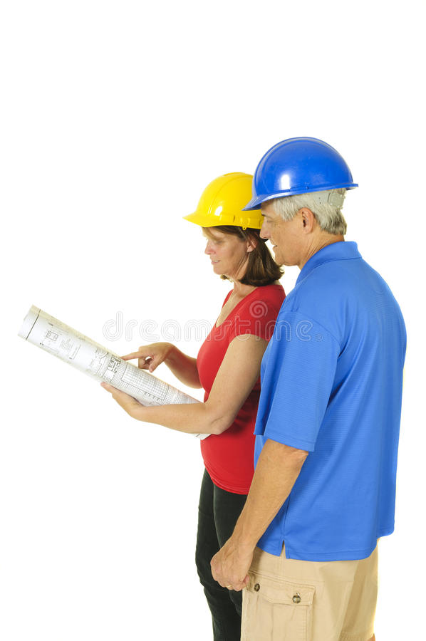 Architect and contractor royalty free stock photos