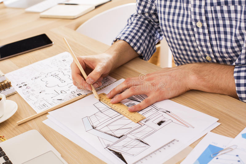 Architect drawing blueprint closeup stock image image of drawing download architect drawing blueprint closeup stock image image of drawing paperwork 74512897 malvernweather Gallery