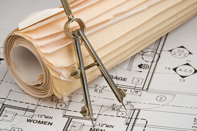 Architect Drawings royalty free stock image
