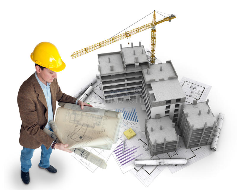Architect en project stock foto's