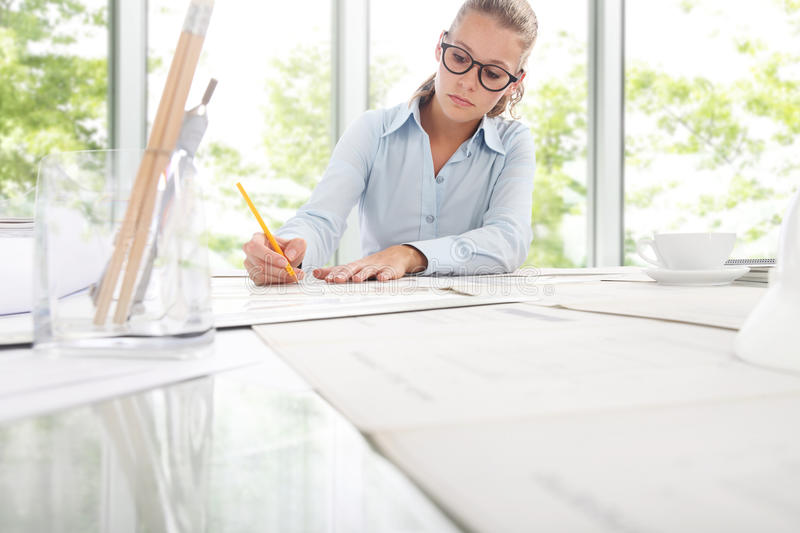 Architect Engineer Design Working in office, Planning Concept. Architect Engineer Design Working Planning Concept royalty free stock photography