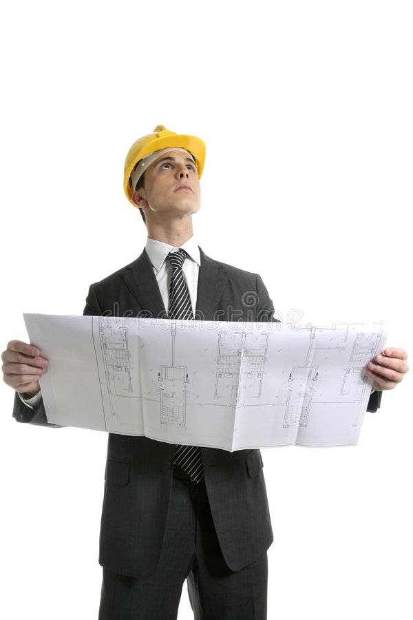 Download Architect Executive Business People With Plans Stock Photo - Image: 8715060